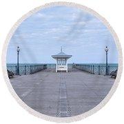 Swanage - England Round Beach Towel