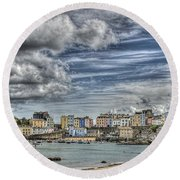 Tenby Harbour Round Beach Towel