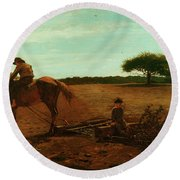 The Brush Harrow Round Beach Towel