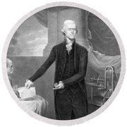 Thomas Jefferson Round Beach Towel
