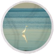 Tranquil Nature In Florida Keys Round Beach Towel