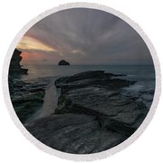 Trebarwith Strand - Cornwall Round Beach Towel