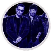 U2 Collection Round Beach Towel