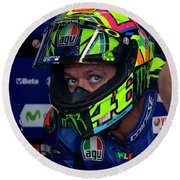 Valentino Rossi The Doctor  Round Beach Towel