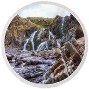 Welcombe Mouth Beach - England Round Beach Towel