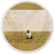 Whistling For Plover Round Beach Towel