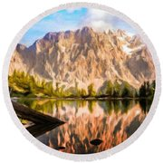 Nature Work Landscape Round Beach Towel