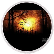 Halloween Round Beach Towel