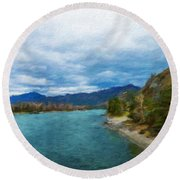 Nature Landscape Light Round Beach Towel