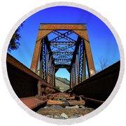 6696 Railroad Bridge Round Beach Towel