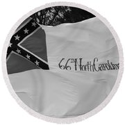 66th North Carolina Round Beach Towel