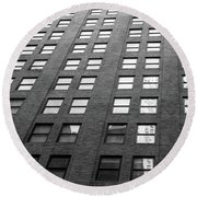 67 Wall St Round Beach Towel