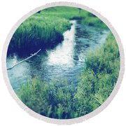 Spring Water Round Beach Towel