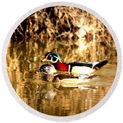6980 - Wood Duck Round Beach Towel