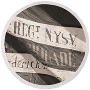 69th New York Round Beach Towel