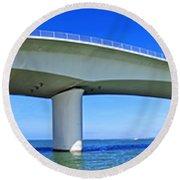 6x1 Sarasota Skyline With Ringling Causeway Bridge Round Beach Towel