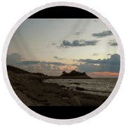 7-23-16--4142 Don't Drop The Crystal Ball Round Beach Towel