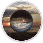 7-24-16--4250 Don't Drop The Crystal Ball, Crystal Ball Photography Round Beach Towel