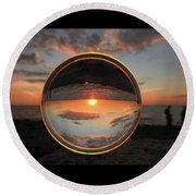 7-26-16--4577 Don't Drop The Crystal Ball, Crystal Ball Photography Round Beach Towel