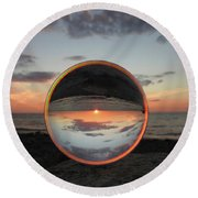 7-26-16--4581 Don't Drop The Crystal Ball, Crystal Ball Photography Round Beach Towel