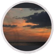 7-26-16--4604 Don't Drop The Crystal Ball Round Beach Towel