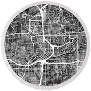 Atlanta Georgia City Map Round Beach Towel