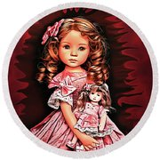 Baby Doll Collection Round Beach Towel