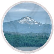 Beautiful Landscapes Around Ketchikan And Tongass Forest In Alas Round Beach Towel