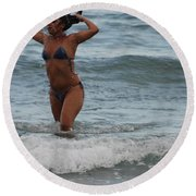 Brazilian Beauty Round Beach Towel
