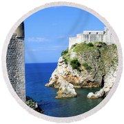 Croatia, Dubrovnik Round Beach Towel