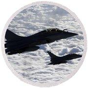 Dassault Rafale B Of The French Air Round Beach Towel