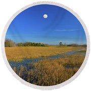 7- Everglades Moon Round Beach Towel