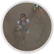 Fearless Femme Racing Round Beach Towel