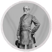 General Robert E Lee Round Beach Towel