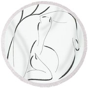 Graphics Round Beach Towel