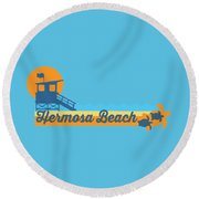 Hermosa Beach. Round Beach Towel