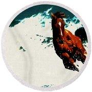 Horse Round Beach Towel