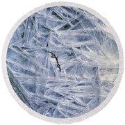 7. Ice Encrustation, Upper West Allen Round Beach Towel
