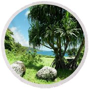 Keanae Maui Hawaii Round Beach Towel