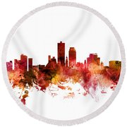 Knoxville Tennessee Skyline Round Beach Towel