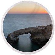 Love Bridge - Cyprus Round Beach Towel