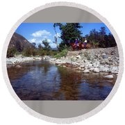 Lower Sisquoc River - San Rafael Wilderness Round Beach Towel