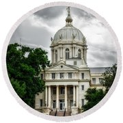 Mc Lennan County Courthouse - Waco Texas Round Beach Towel