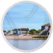 Mudeford - England Round Beach Towel