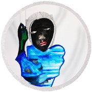 Nuer Lady - South Sudan Round Beach Towel