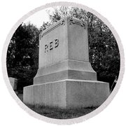 Odd Fellows Cemetery Round Beach Towel