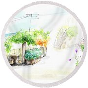Painting Round Beach Towel