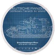 Panzerkampfwagen Maus Round Beach Towel