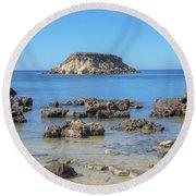 Pegeia - Cyprus Round Beach Towel