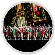 Radio City Rockettes New York City Round Beach Towel